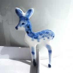 Hertje - broche Delfts Blauw