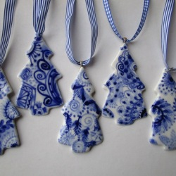 Delft blue christmas decorations