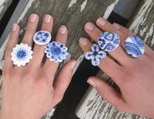 delfts blauwe ring