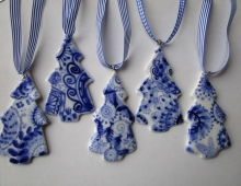 Delft blue christmas decorations