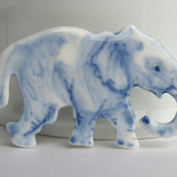 Elephant in Delft blue porcelain