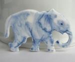Elephant in Delft blue porcelain